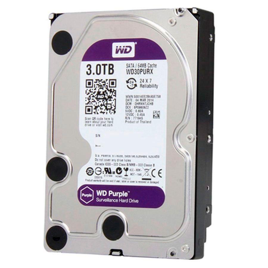 HD Interno WD Purple 3TB Surveillance SATA III 6GB/s 5400 RPM WD30PURZ