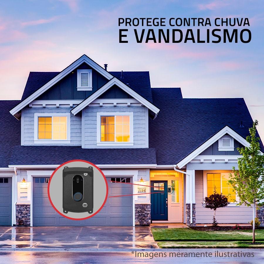 Protetor Anti Vandalismo para Interfone e Vídeo Porteiro Intelbras IPR 8010 / IV 4010 / IV 7010 - Cinza