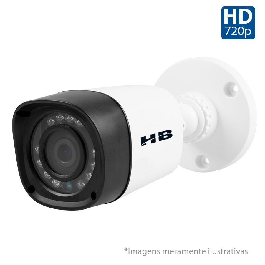 Kit 02 Câmeras de Segurança HD 720p HB Tech + DVR Intelbras Multi HD +  HD para Gravação 1TB + Acessórios