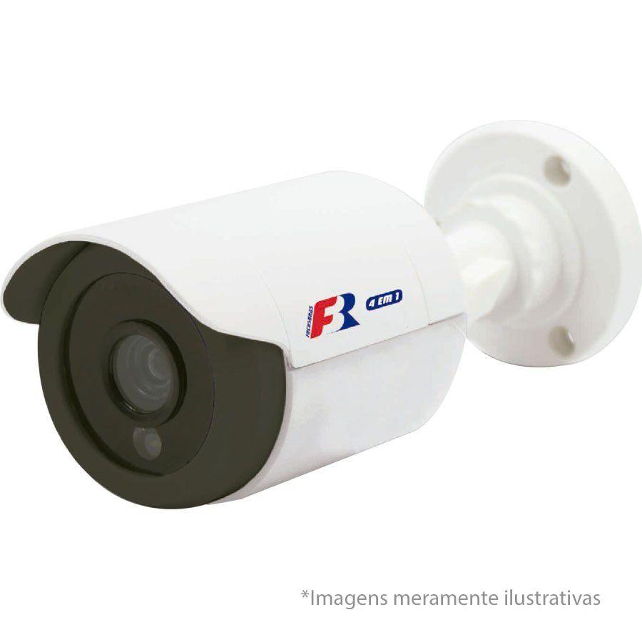 "Kit 02 Câmeras Infra Bullet HD 720p  Focusbras + Tela Monitor 7"" LCD Colorido + Acessórios"