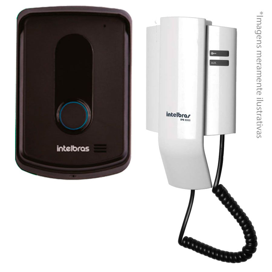 "Kit Porteiro Intelbras IPR8010 com 01 Câmeras Infra Bullet e Tela Monitor 7"" LCD Colorido"