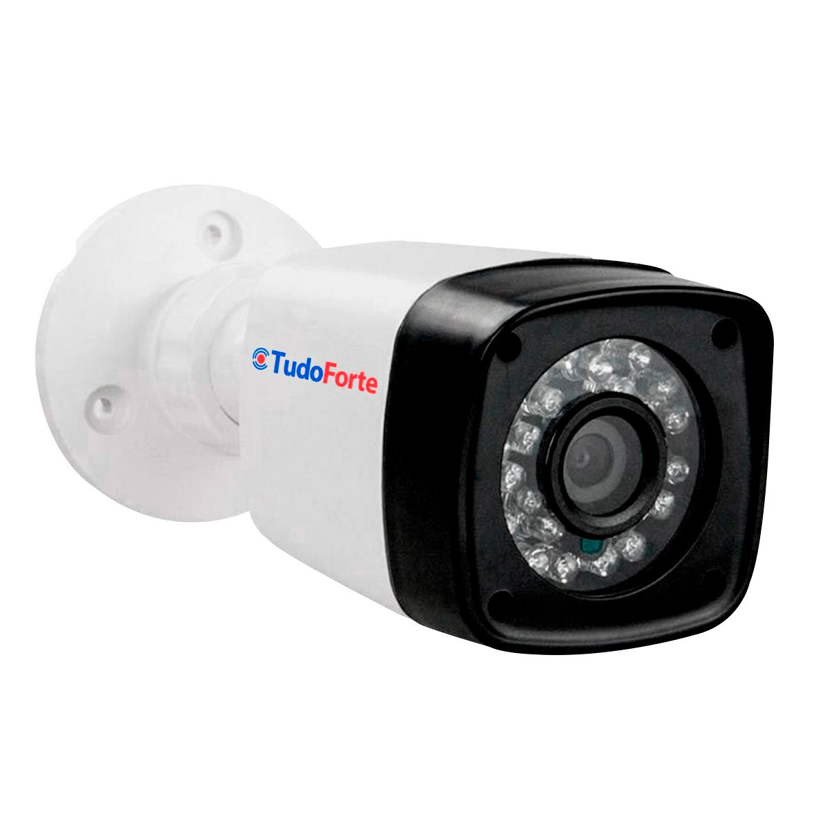 "Kit 02 Câmeras Infra Bullet + Tela Monitor 7"" LCD Colorido + Acessórios  - Tudo Forte"