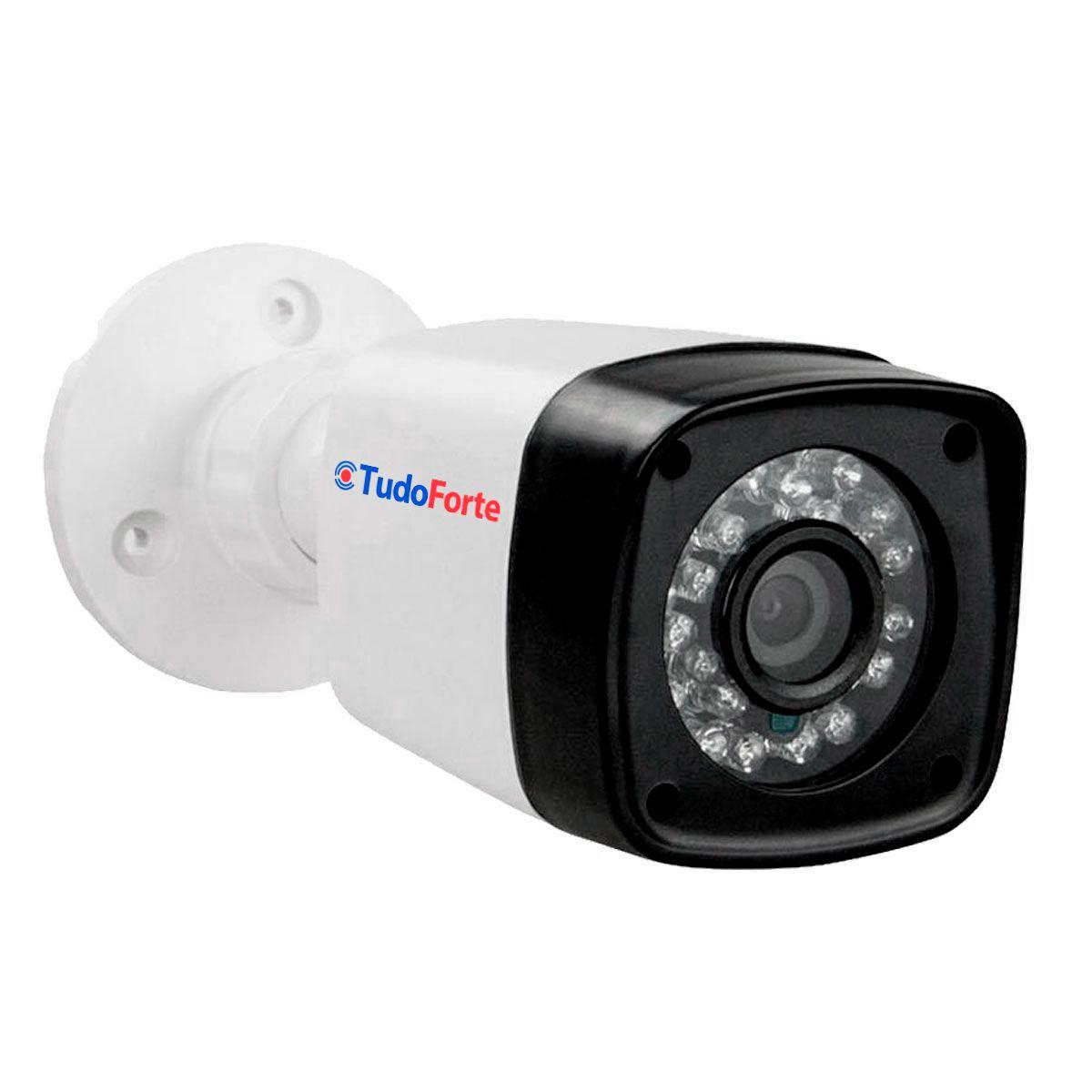 Kit 3 Câmeras + DVR Intelbras + App Grátis de Monitoramento, Câmeras HD 720p 20m Infravermelho de Visão Noturna + Fonte, Cabos e Acessórios  - Tudo Forte