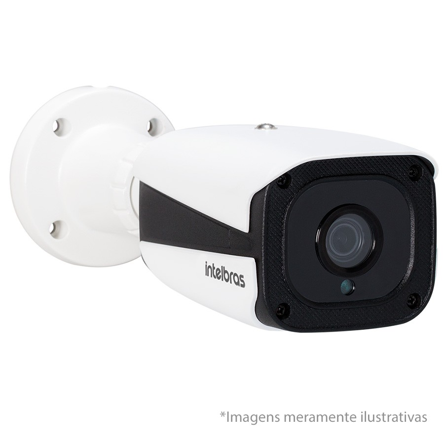Kit 03 Câmeras de Segurança IP 1Mp HD 720p Intelbras VIP 1120 B + NVD 1108 Intelbras, NVR, HVR + HD WD Purple 1TB