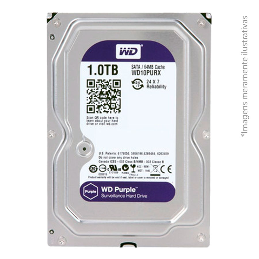 Kit 06 Câmeras de Segurança IP 1Mp HD 720p Intelbras VIP 1120 B + NVD 1108 Intelbras, NVR, HVR + HD WD Purple 1TB