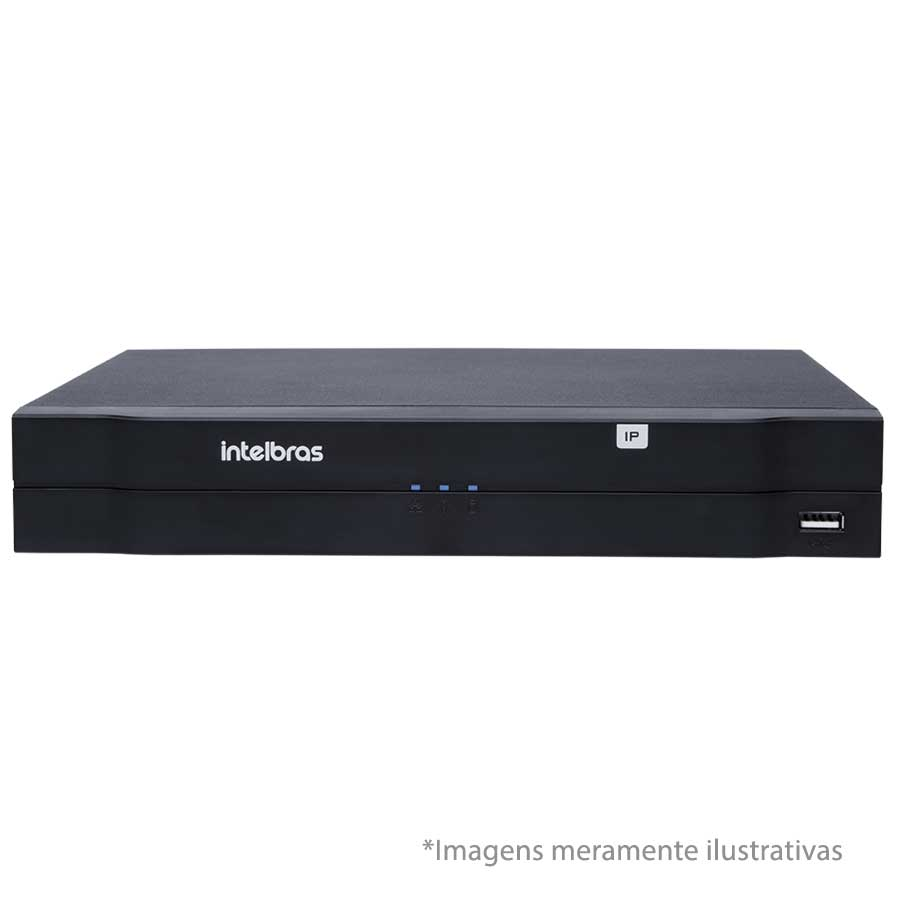 Kit 06 Câmeras de Segurança IP 1Mp HD 720p Intelbras VIP 1120 D + NVD 1108 Intelbras, NVR, HVR + HD WD Purple 1TB
