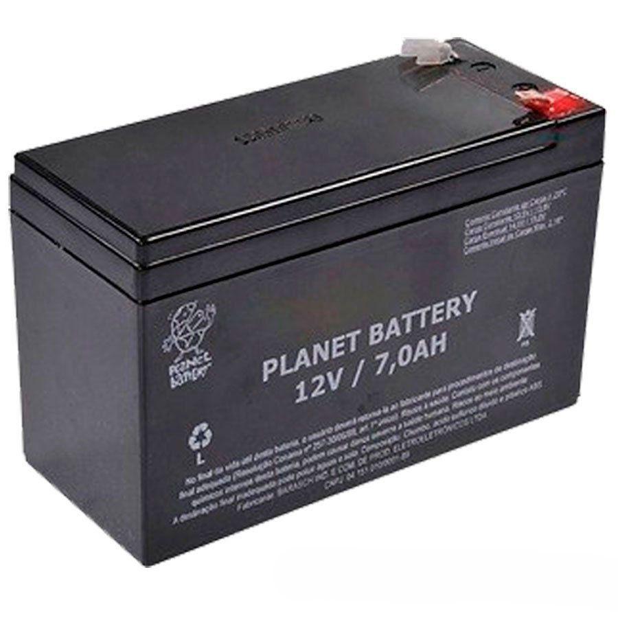 Kit 10 Bateria de Alarme, Cerca Elétrica Selada 12V 7A Planet Battery  - Tudo Forte