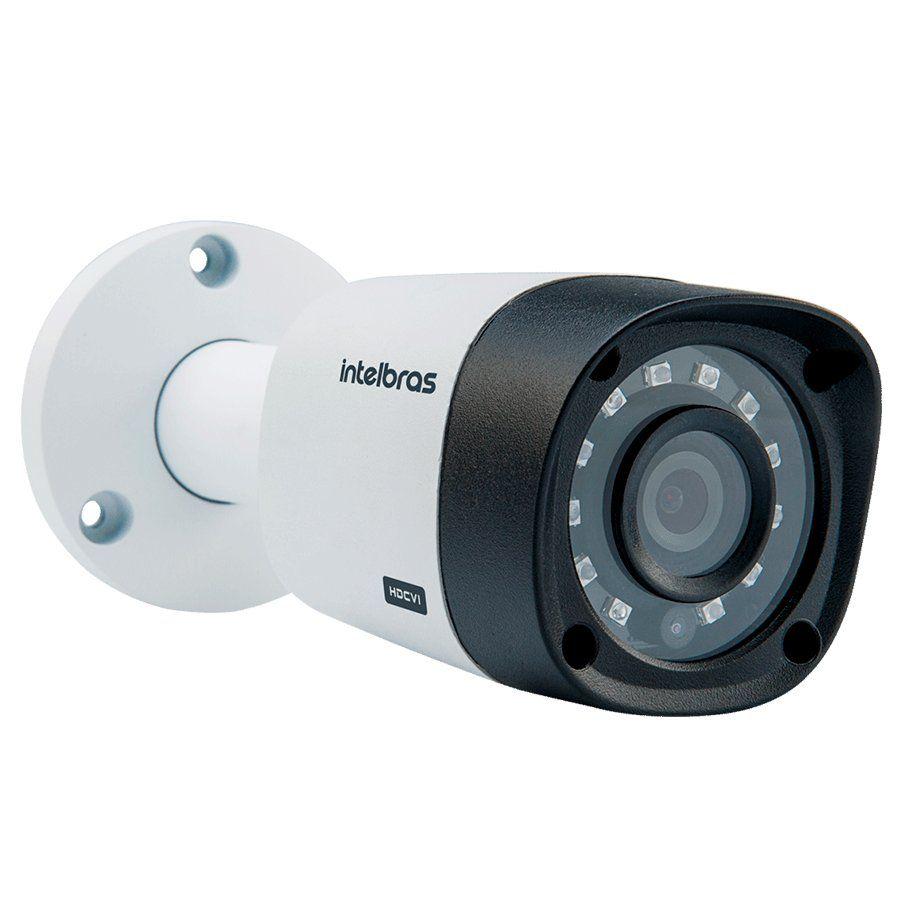 Kit 10 Câmeras de Segurança HD 720p Intelbras VHD 3130B G4 + DVR Intelbras Multi HD + HD para Gravação + Acessórios