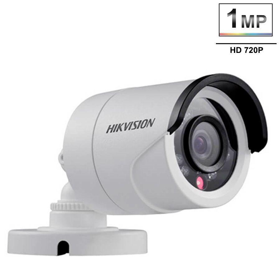 Kit 12 Câmeras de Segurança HD 720p Hikvision 10 metros + DVR Hikvision + Acessórios