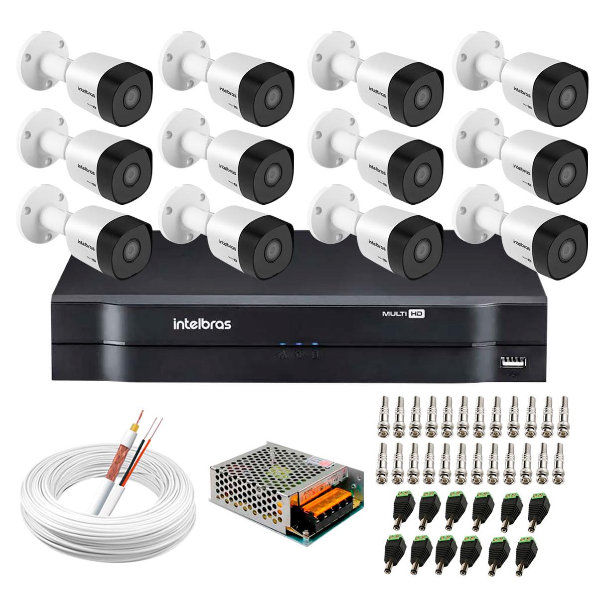 kit-12-cameras-vhd-3130-b-g6-dvr-intelbras-app-gratis-de-monitoramento-cameras-hd-720p-30m-infravermelho-de-visao-noturna-intelbras-fonte-cabos-e-acessorios