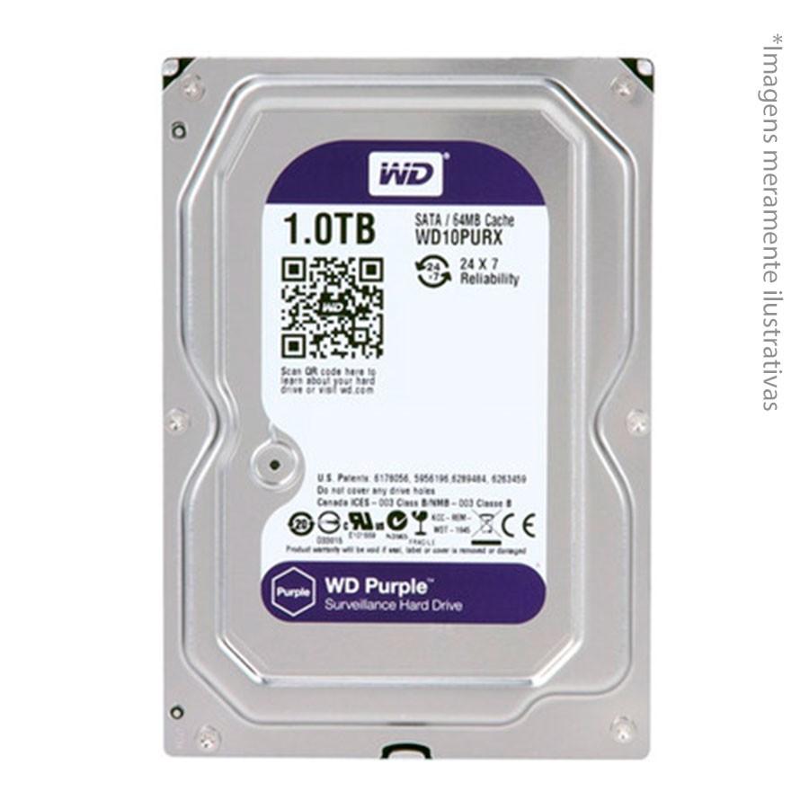Kit 16 Câmeras de Segurança Full HD 1080p VHD 1220B IR + DVR Intelbras Full HD + HD WD Purple 1TB + Acessórios