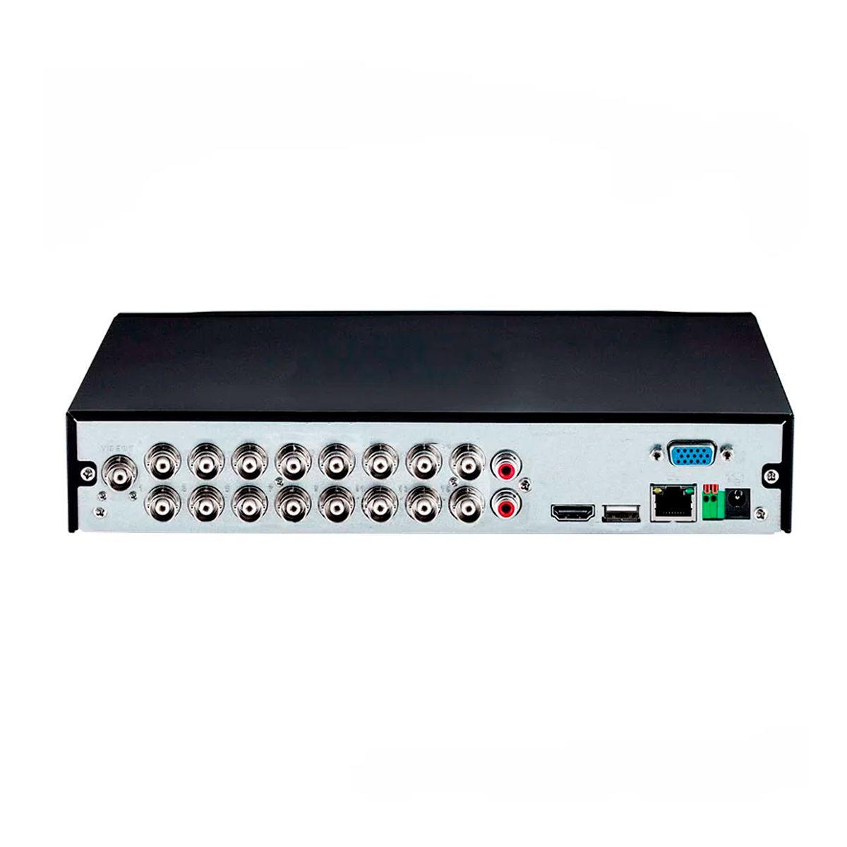 Kit 16 Câmeras VHD 1120 B G5 + DVR Intelbras + App Grátis de Monitoramento, Câmeras HD 720p 20m Infravermelho de Visão Noturna Intelbras + Fonte, Cabos e Acessórios  - Tudo Forte