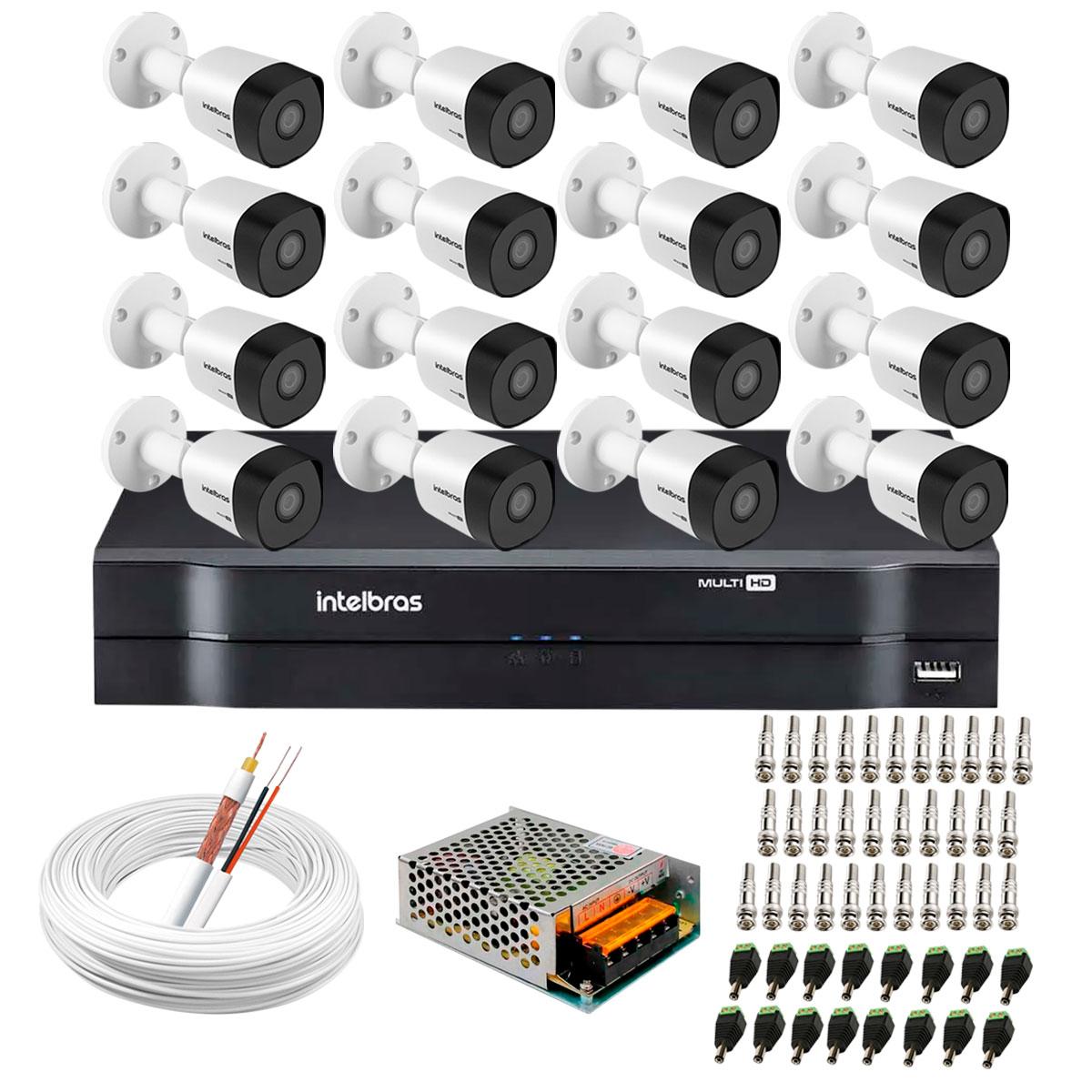 kit-16-cameras-vhd-3130-b-g6-dvr-intelbras-app-gratis-de-monitoramento-cameras-hd-720p-30m-infravermelho-de-visao-noturna-intelbras-fonte-cabos-e-acessorios