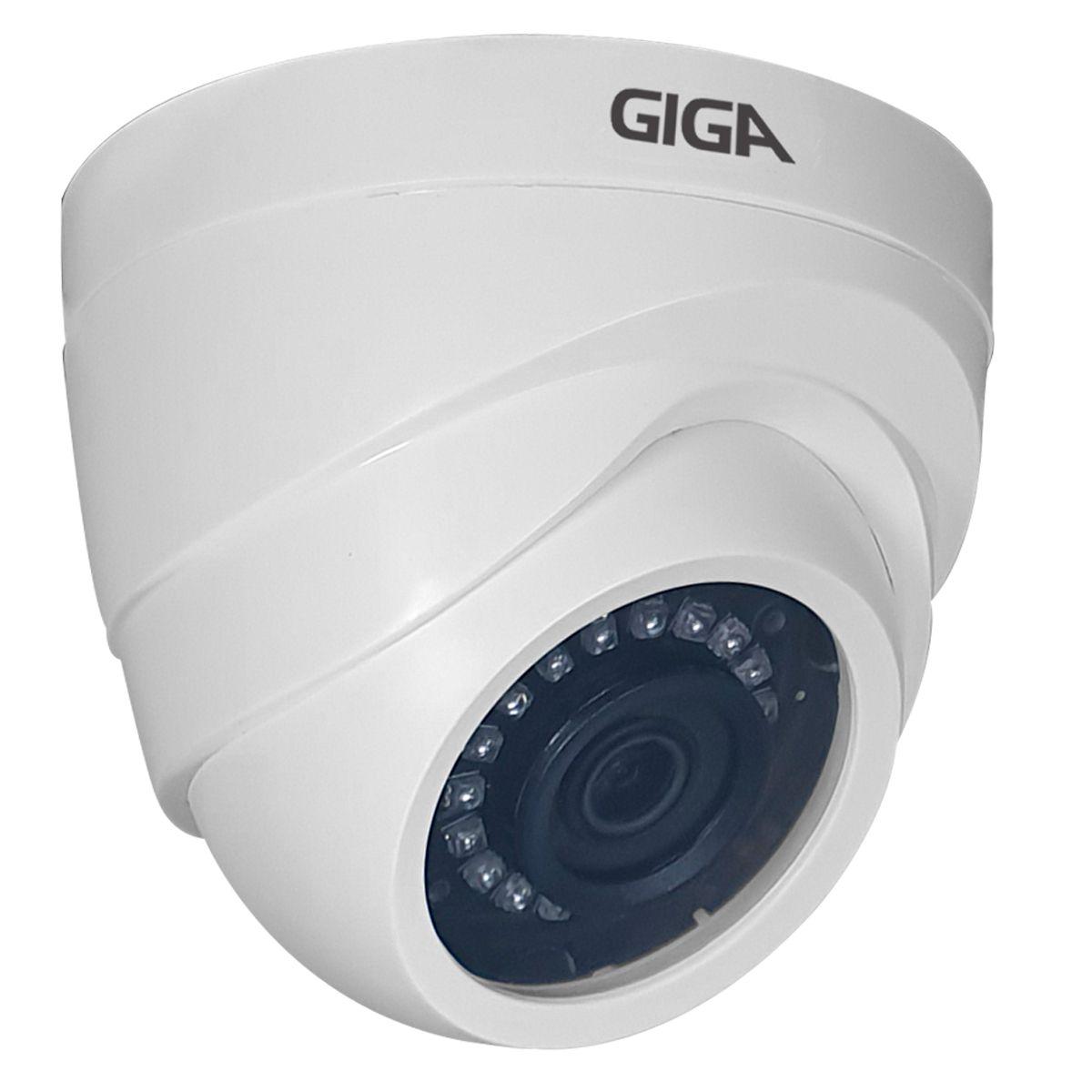 Kit Giga Security 2 Câmeras HD 720p GS0019 + DVR Lite + Acessórios  - Tudo Forte