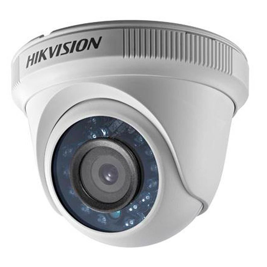 Kit 2 Câmeras de Segurança HD 720p Hikvision Dome 20 metros + DVR Hikvision + Acessórios