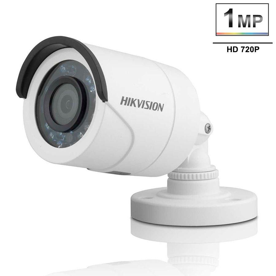Kit 2 Câmeras de Segurança HD 720p Hikvision 20 metros + DVR Hikvision + Acessórios