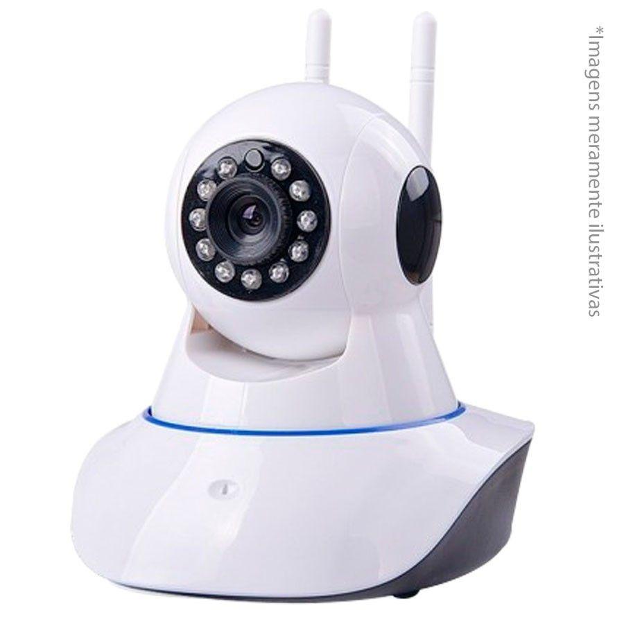Kit 2 Câmeras de Segurança IP Sem Fio Wifi HD 720p Robo Wireless  - Tudo Forte