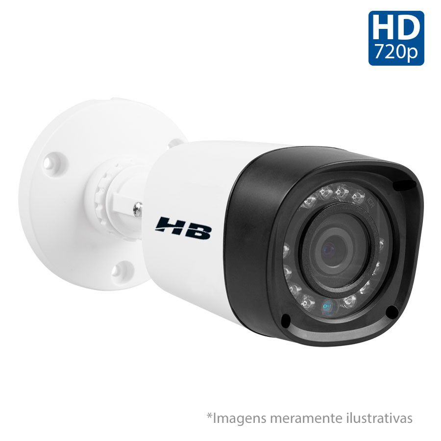 Kit 3 Câmeras de Segurança Bullet HD 720p HB Tech + DVR Flex Tecvoz + Acessórios