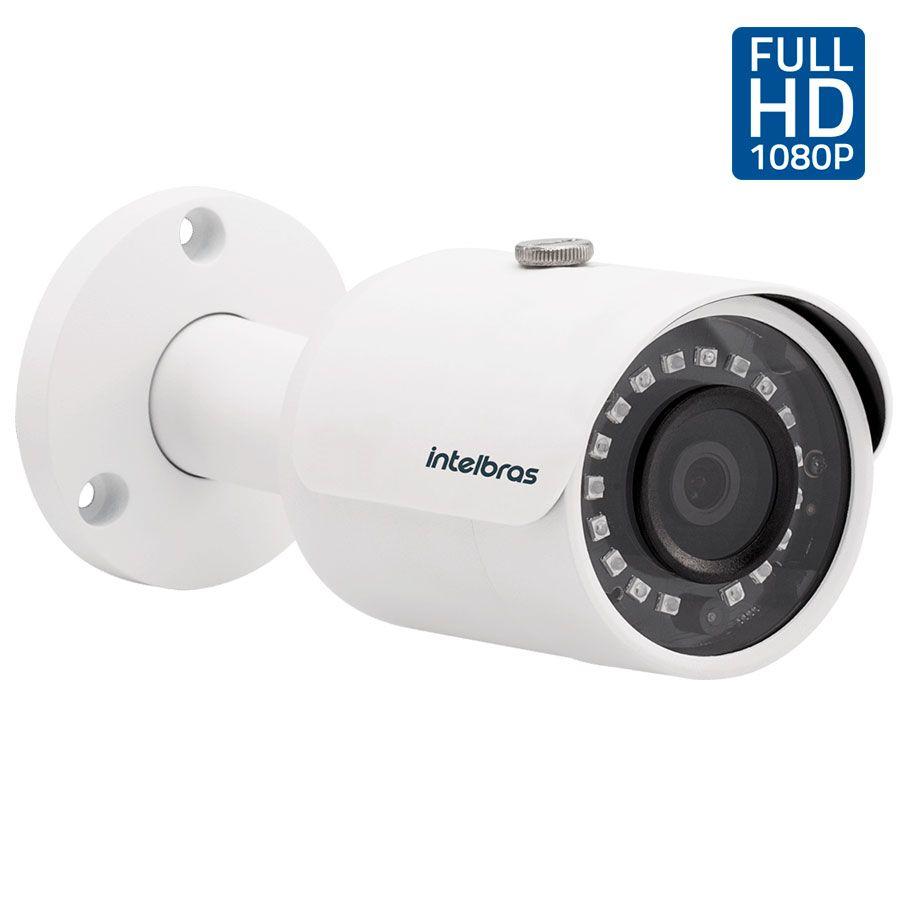Kit 3 Câmeras de Segurança Full HD 1080p Intelbras VHD 3230 + DVR Intelbras Full HD 4 Ch + Acessórios