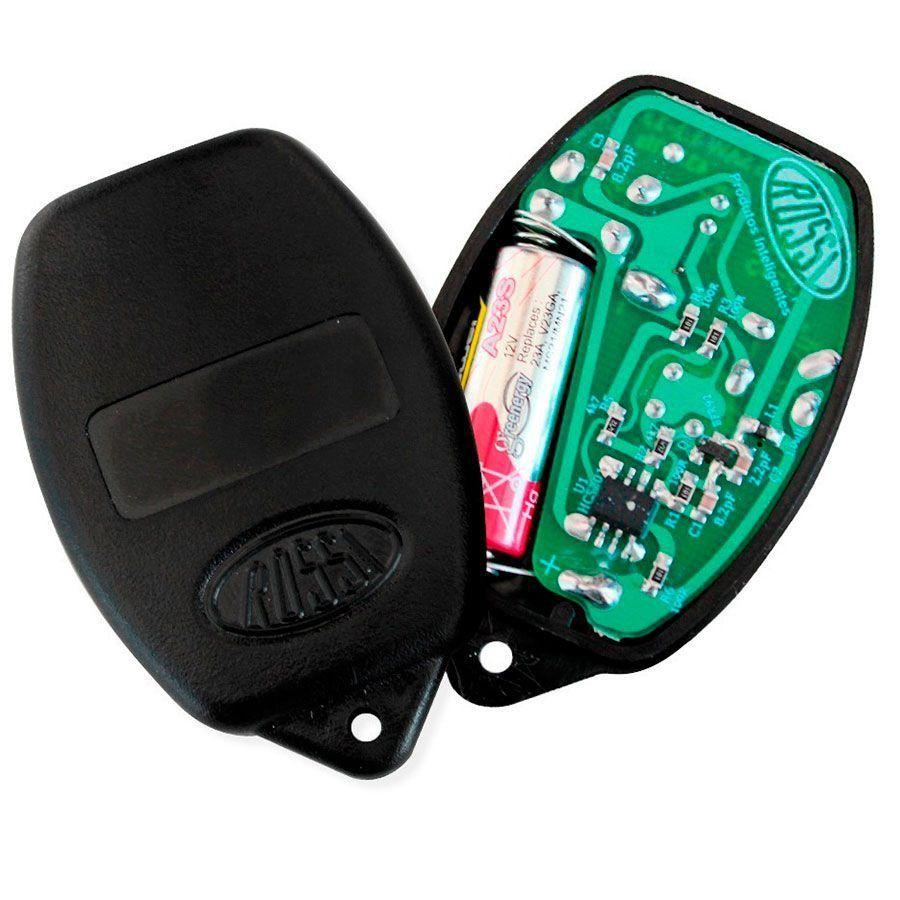 Kit com 3 Controle Remoto Rossi para Portão Nano Dz3 Dz4 Bv Preto  - Tudo Forte