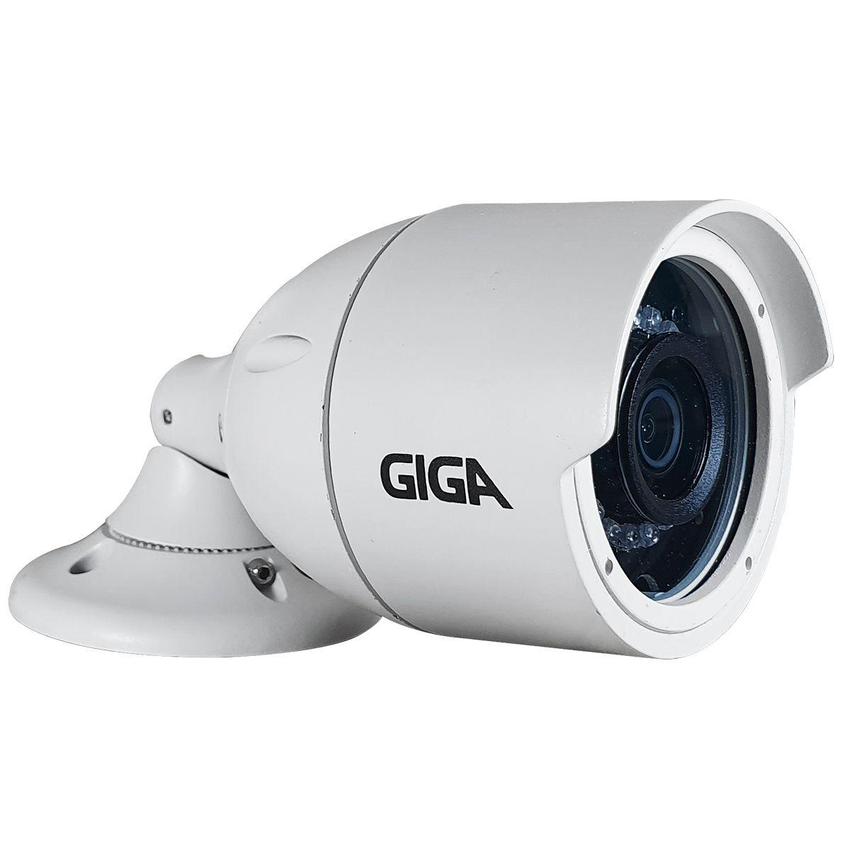 Kit 4 Câmeras Full HD + DVR Giga Security + App Grátis de Monitoramento, Câmeras GS0273 1080p 30m Infravermelho de Visão Noturna + Fonte, Cabos e Acessórios  - Tudo Forte