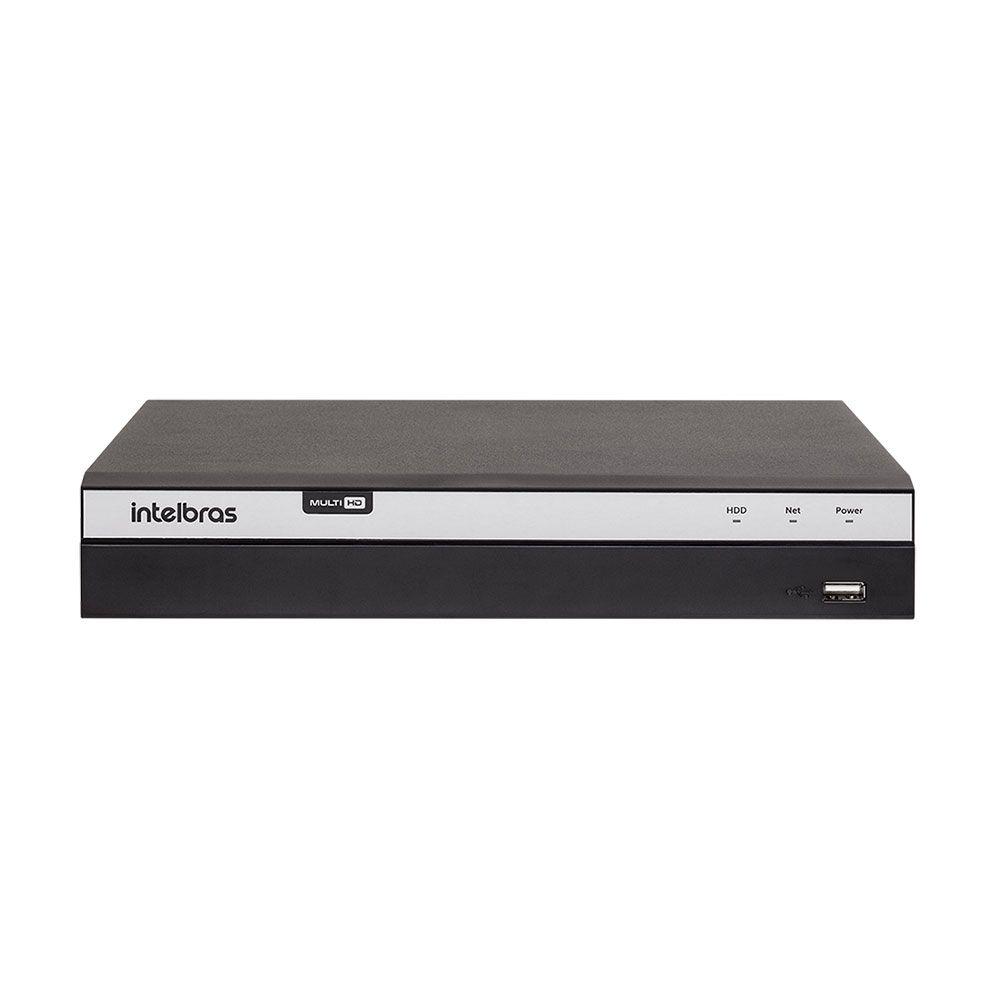 Kit 4 Câmeras de Segurança Full HD 1080p Intelbras VHD 1220B IR + DVR Intelbras Full HD 8 Ch + Acessórios  - Tudo Forte