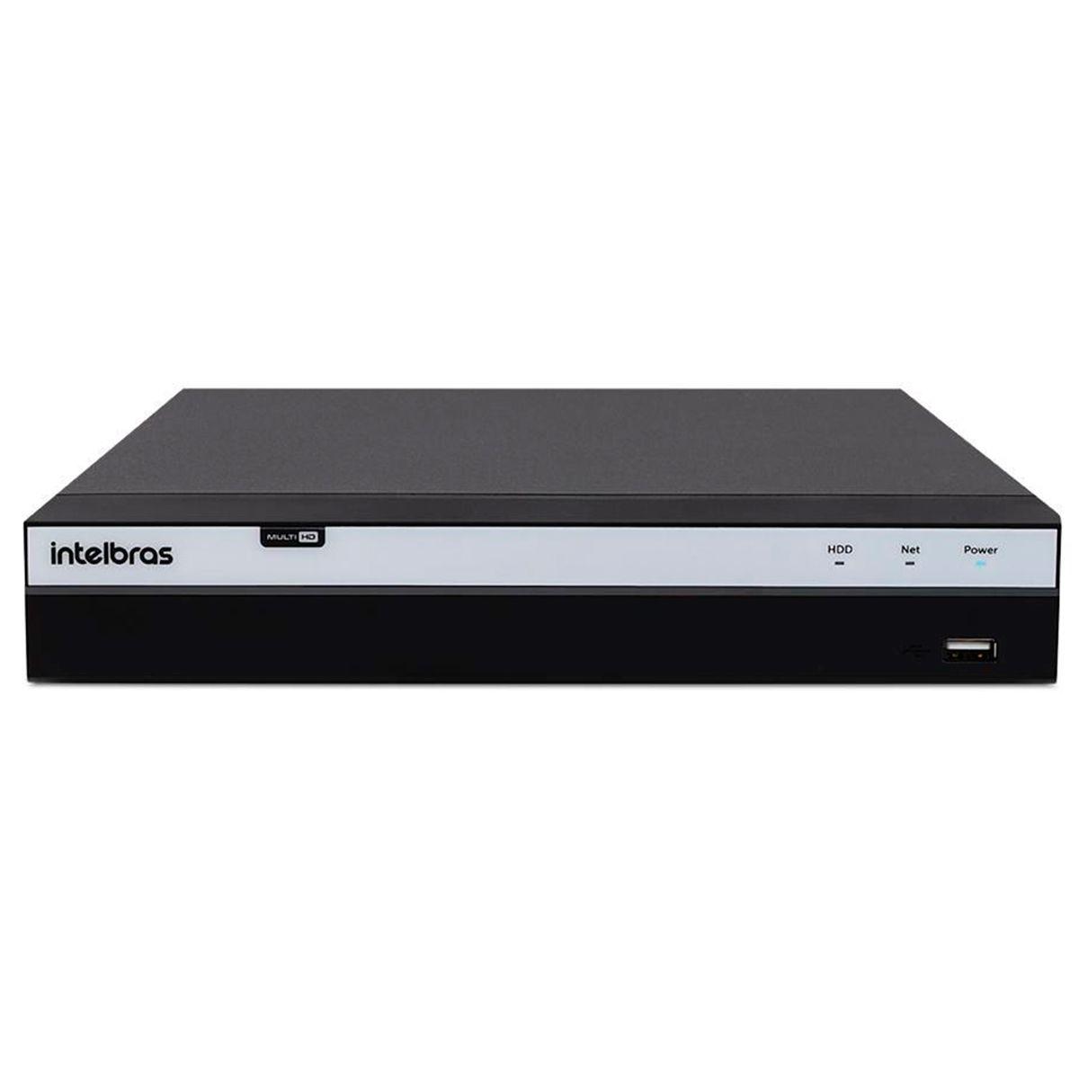 Kit 4 Câmeras de Segurança Full HD 1080p VHD 3230 B G5 + DVR Intelbras MHDX 3108 Full HD de 8 Canais + Acessórios  - Tudo Forte