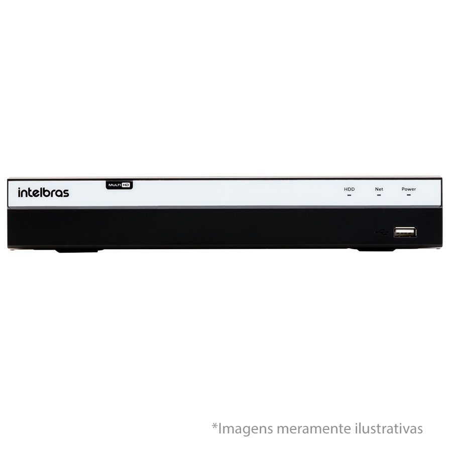 Kit 4 Câmeras de Segurança Full HD 1080p QCB 236 Tecvoz + DVR Intelbras Full HD + Acessórios