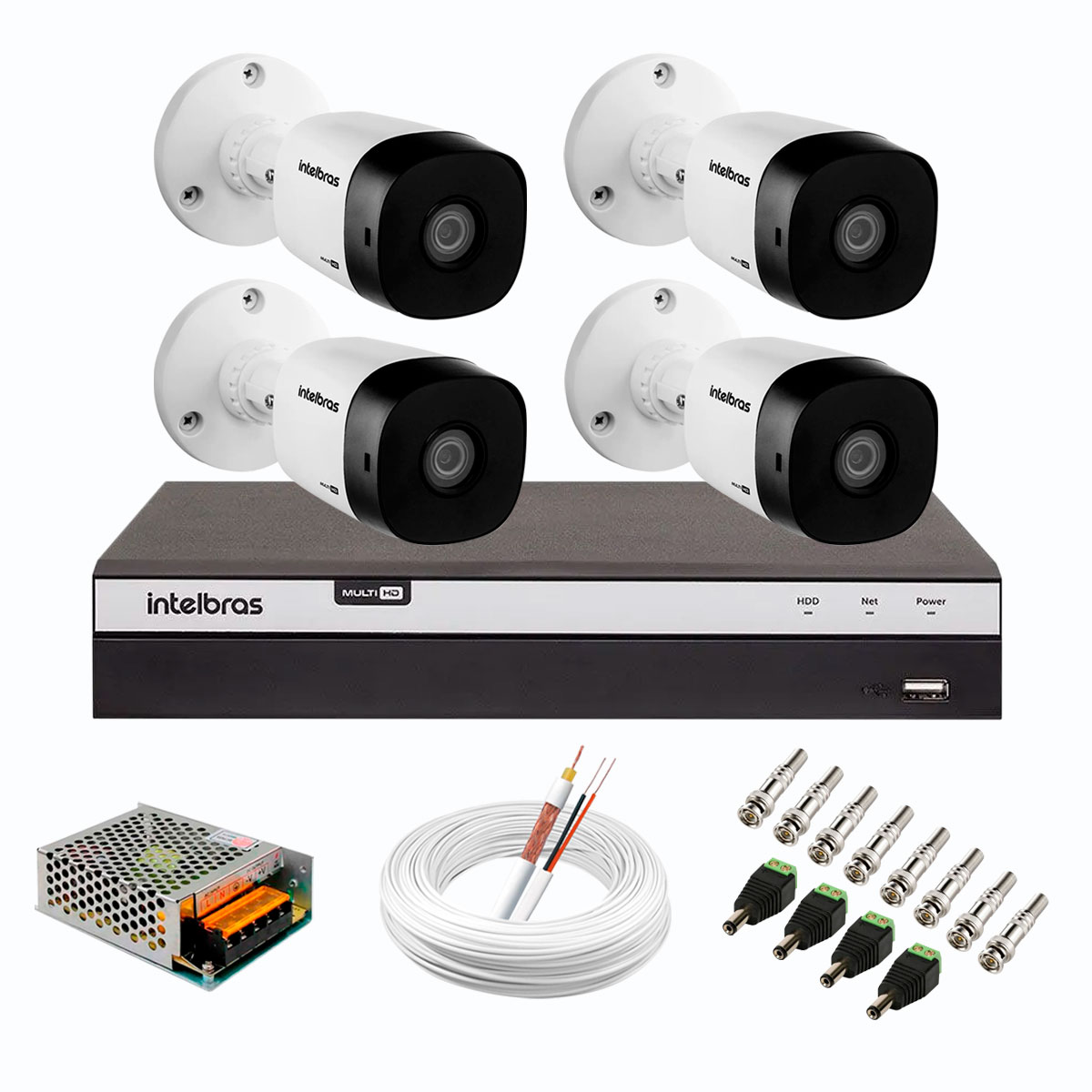 kit-4-cameras-de-seguranca-full-hd-intelbras-vhd-1220-b-g6-dvr-intelbras-full-hd-mhdx-3108-de-8-canais-acessorios