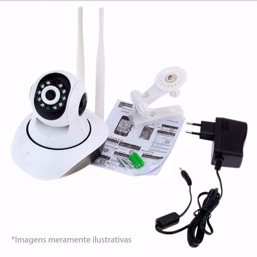 Kit 4 Câmeras de Segurança IP Sem Fio Wifi HD 720p Robo Wireless
