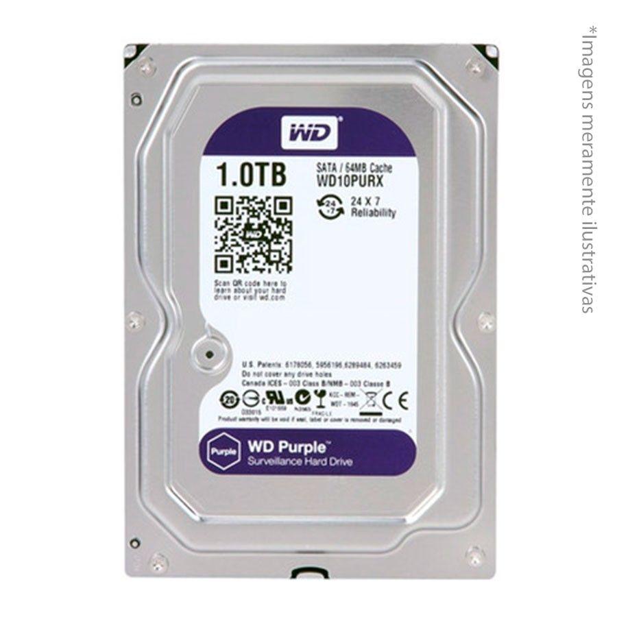 Kit 6 Câmeras de Segurança HD 720p Intelbras VHD 1120B G4 + DVR Intelbras Multi HD + HD WD Purple 1TB+ Acessórios