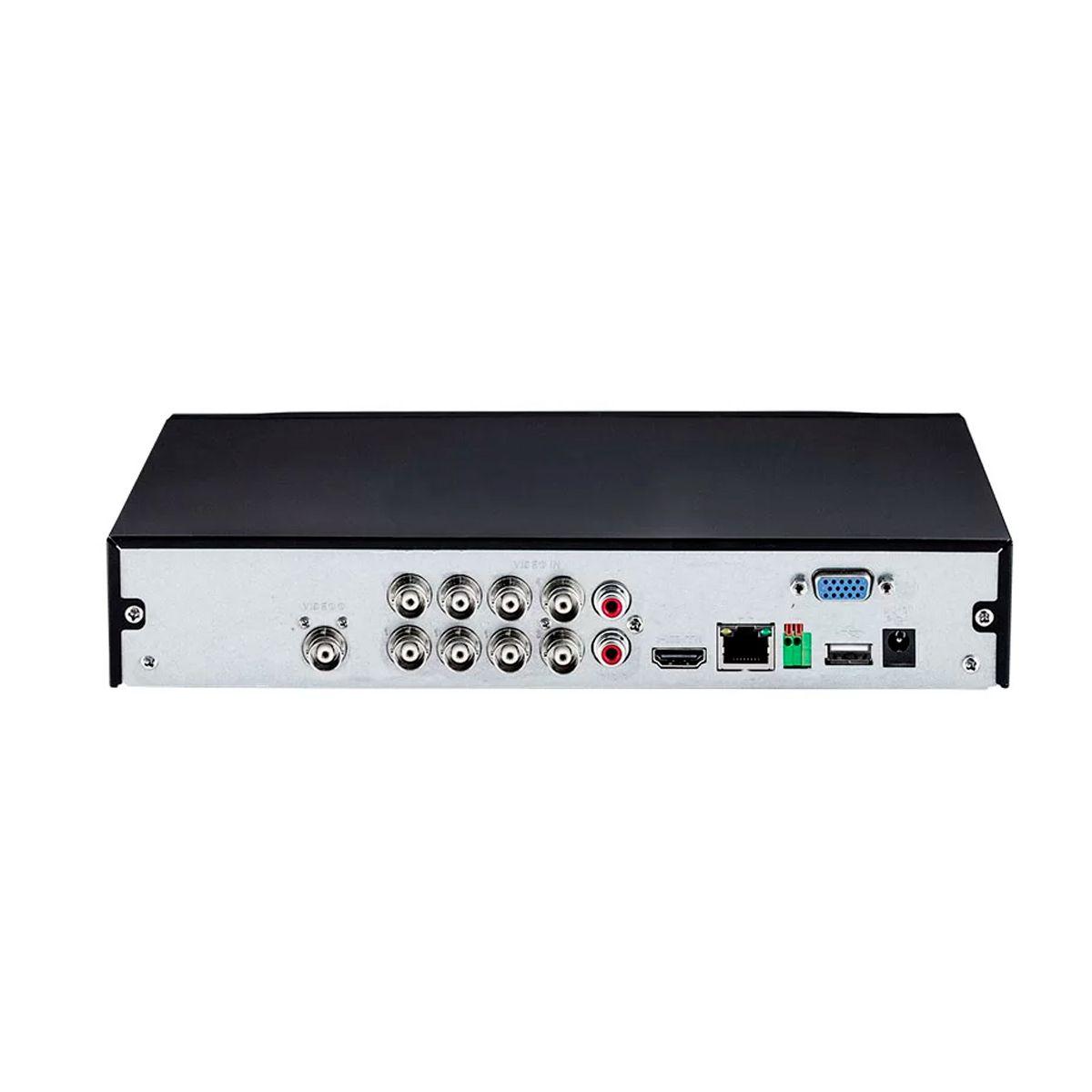 Kit 6 Câmeras VHD 1120 B G5 + DVR Intelbras + App Grátis de Monitoramento, Câmeras HD 720p 20m Infravermelho de Visão Noturna Intelbras + Fonte, Cabos e Acessórios  - Tudo Forte