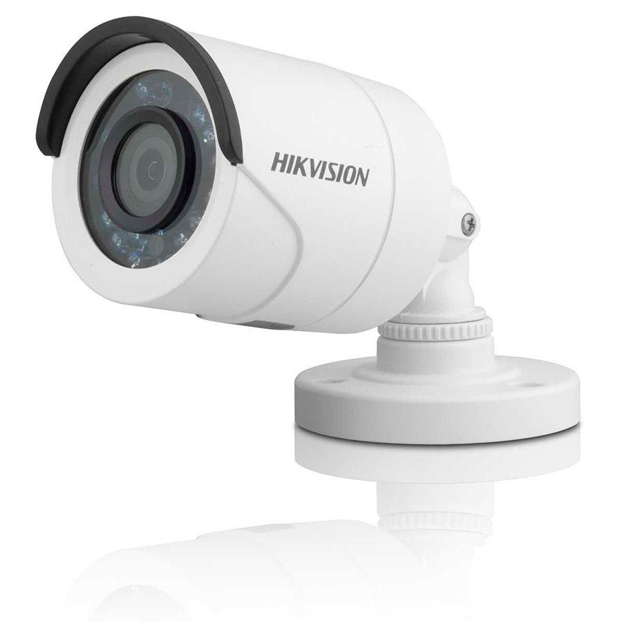 Kit 8 Câmeras de Segurança HD 720p Hikvision 10 metros + DVR Hikvision + Acessórios