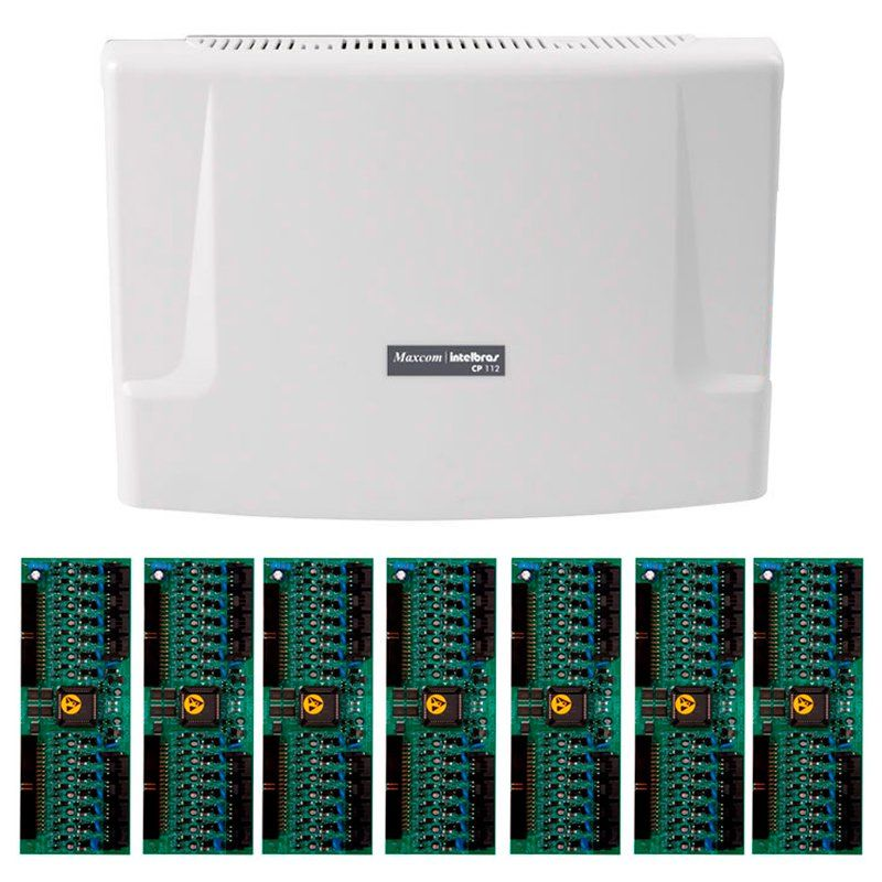 Kit Central de Interfone Condomínio com 112 Ramais - Intelbras CP 112 + Placas Desbalanceadas  - Tudo Forte