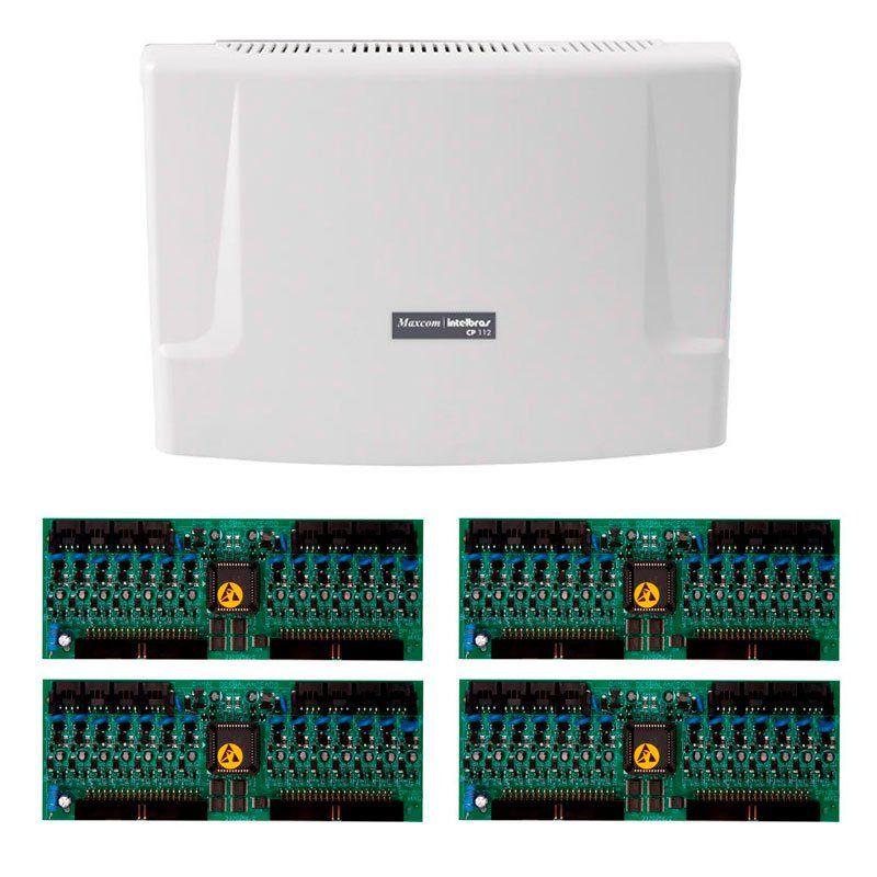Kit Central de Interfone Condomínio com 64 Ramais, expansível até 112 ramais - Intelbras CP 112 + Placas Desbalanceadas  - Tudo Forte