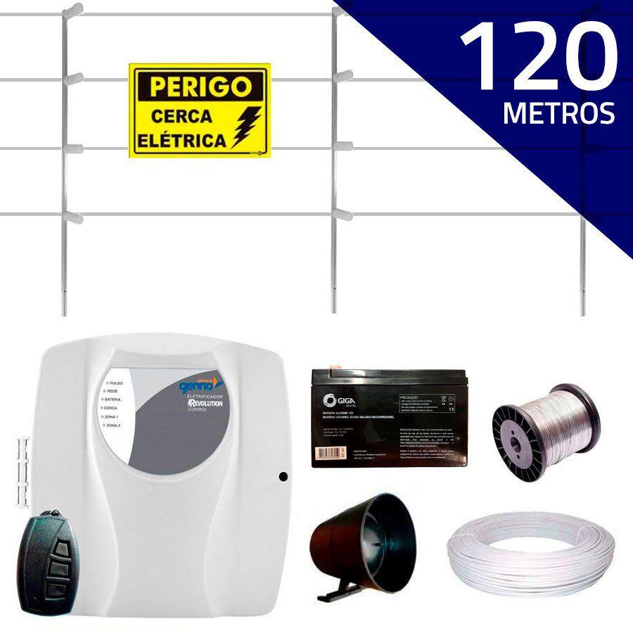 Kit Cerca Elétrica com 120 mts Genno + Controle Remoto, Completo
