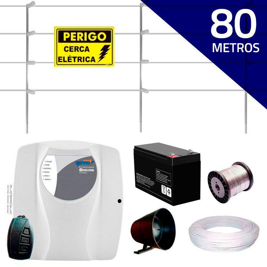 Kit Cerca Elétrica com 80 mts Genno + Controle Remoto, Completo  - Tudo Forte