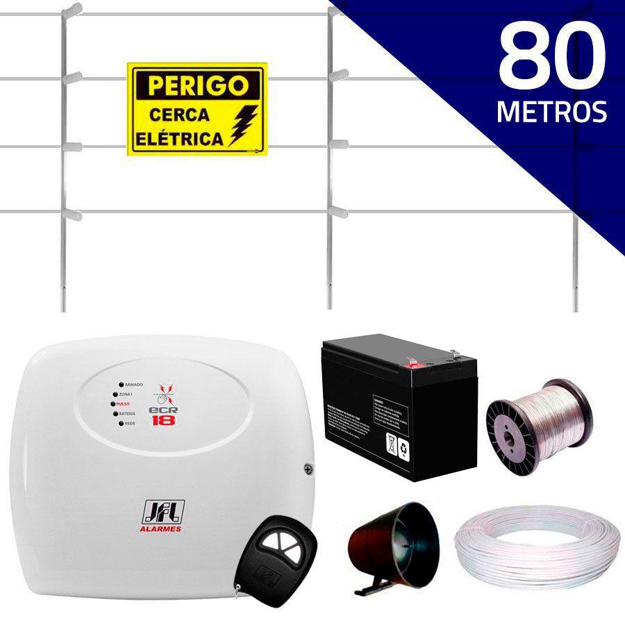 Kit Cerca Elétrica com 80 mts JFL + Controle Remoto, Completo  - Tudo Forte