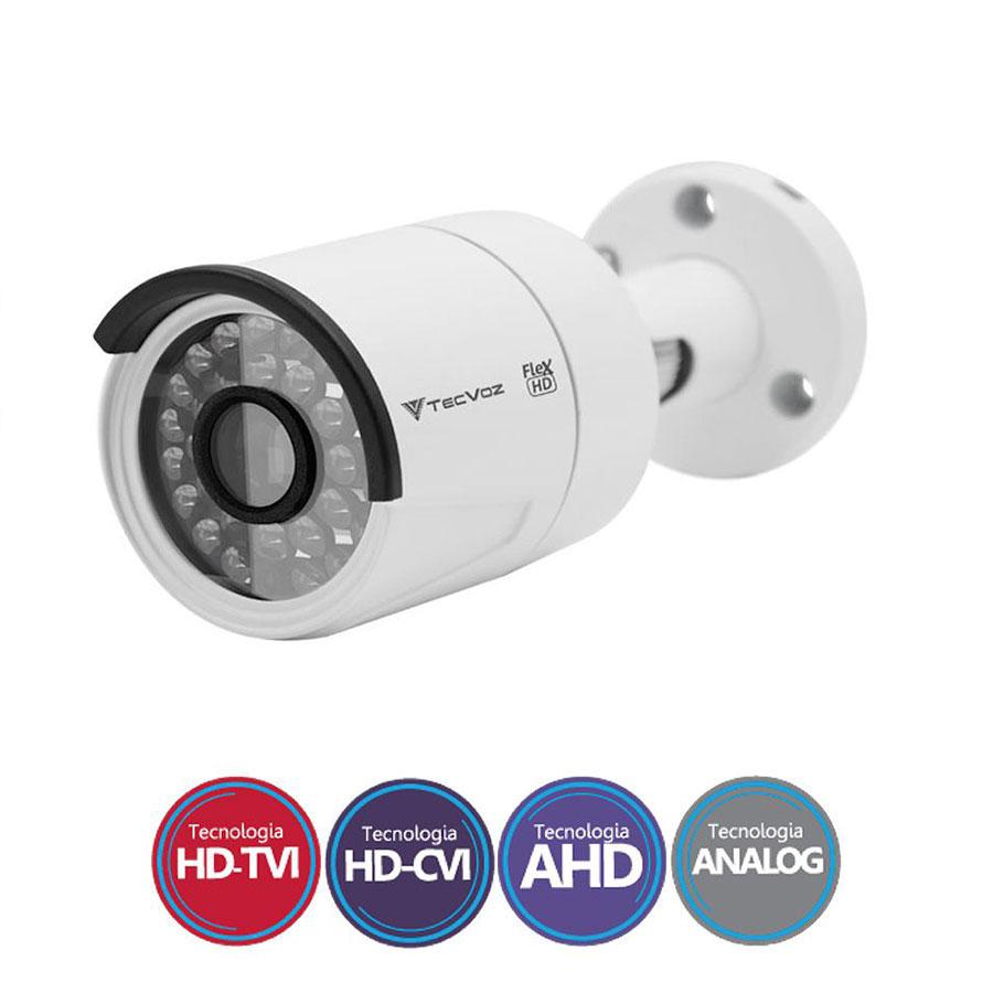Kit 04 Câmeras de Segurança Full HD 1080p Tecvoz QCB-236 + DVR Tecvoz Flex Full HD + Acessórios