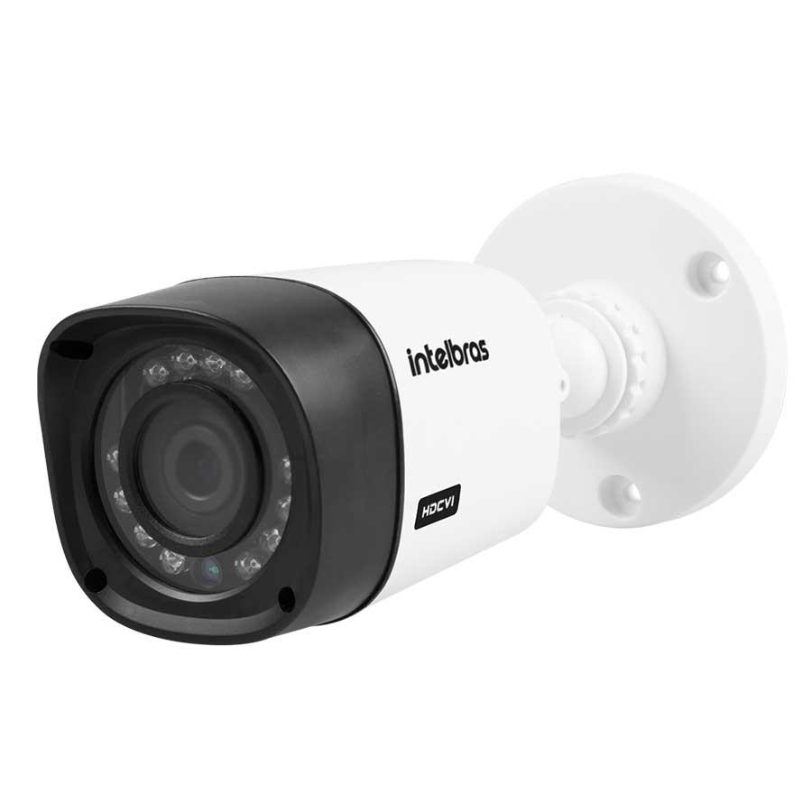 Kit 06 Câmeras de Segurança Full HD 1080p Intelbras VHD 1220 + DVR Tecvoz Flex Full HD + Acessórios  - Tudo Forte