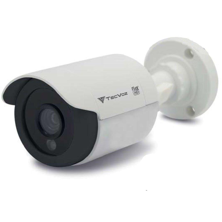 Kit 06 Câmeras de Segurança Tecvoz HD 720p CCB-128P + DVR Intelbras Multi HD + Acessórios  - Tudo Forte