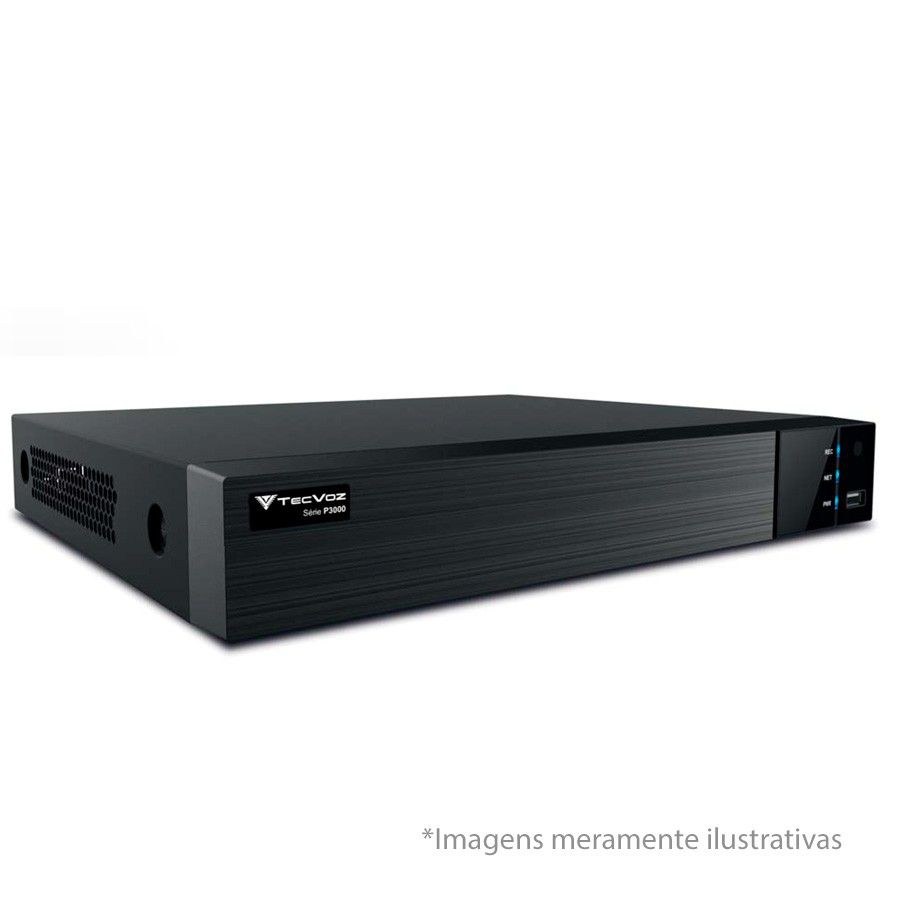 Kit 3 Câmeras de Segurança HD 720p Tecvoz Flex QDM 128P - DVR Tecvoz Flex 4 em 1 + Acessórios  - Tudo Forte