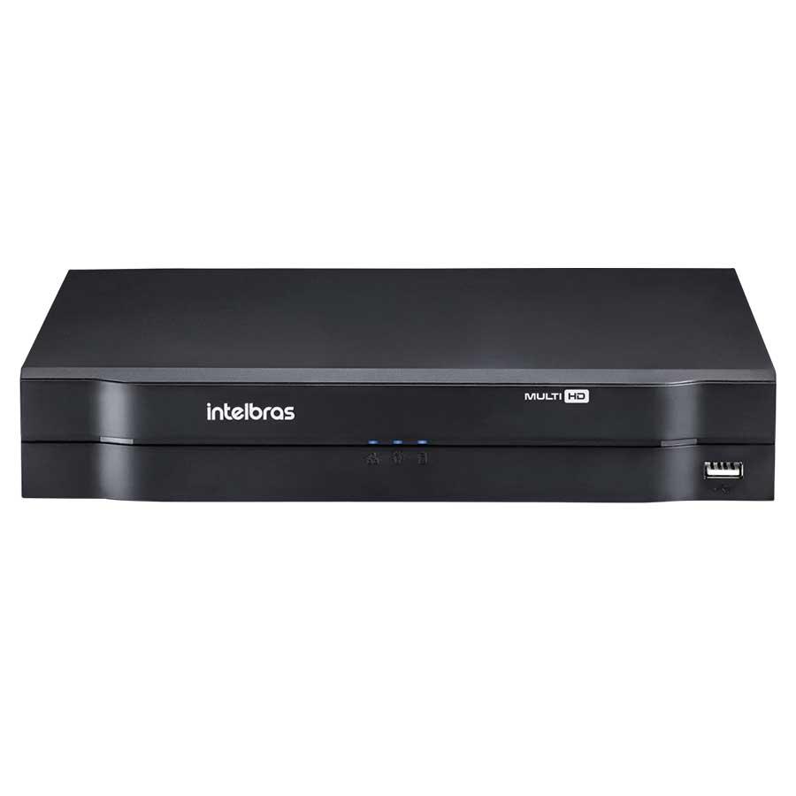 Kit 4 Câmeras de Segurança HD 720p Focusbras + DVR Intelbras Multi HD + Acessórios