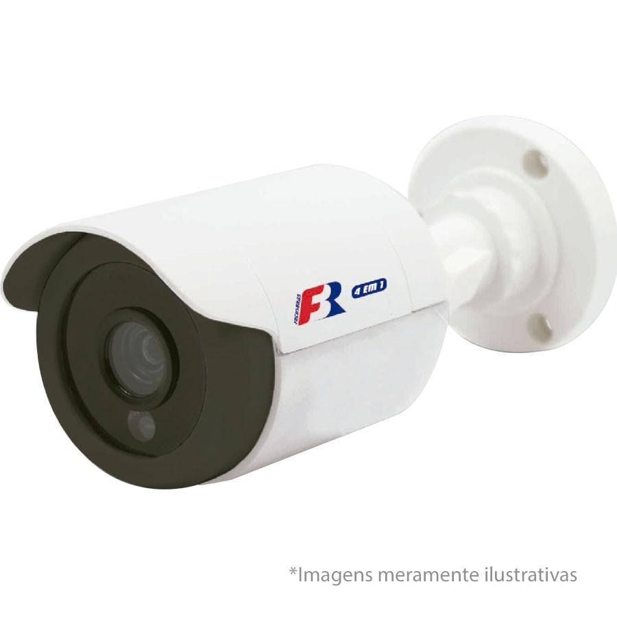 Kit 4 Câmeras de Segurança HD 720p Focusbras + DVR Intelbras Multi HD + HD para Gravação 1TB + Acessórios