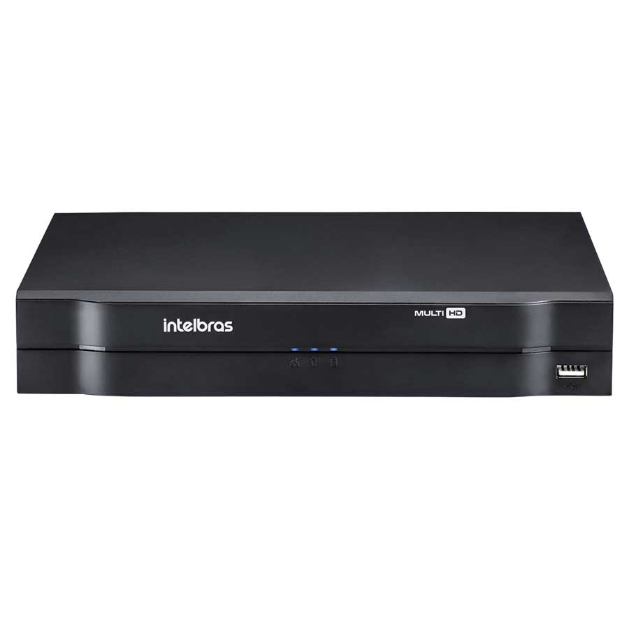 Kit 8 Câmeras de Segurança HD 720p Focusbras + DVR Intelbras Multi HD + HD para Gravação 1TB + Acessórios