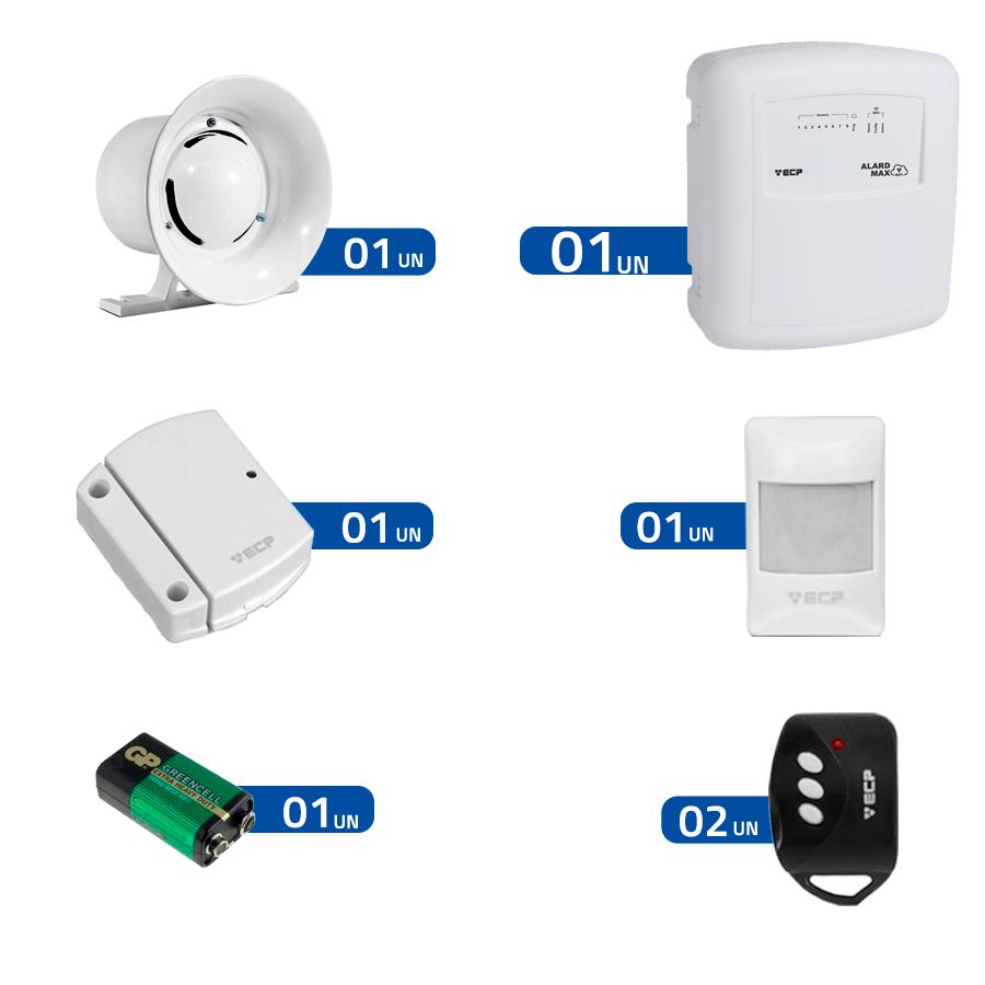 Kit de Alarme 2 Sensores WIFI ECP Alard Max sem fio