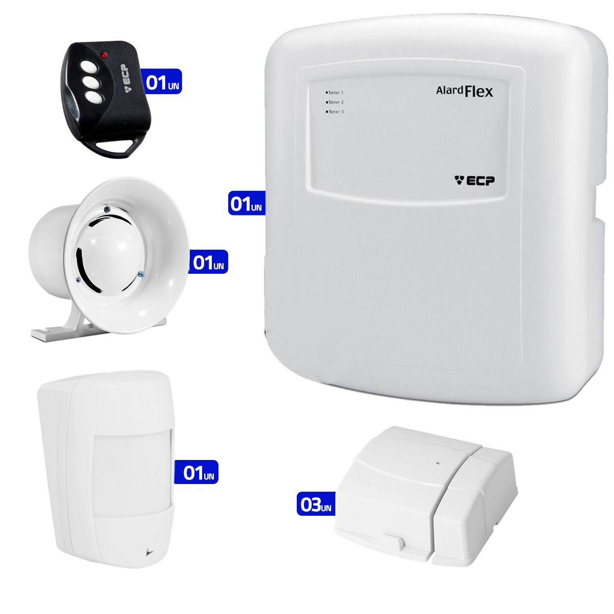 Kit de Alarme ECP 02 Sensores Sem Fio  - Tudo Forte