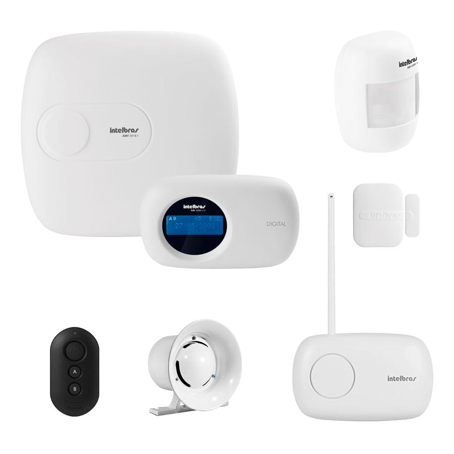 Kit de Alarme Intelbras AMT 2018 E com 02 Sensores com Monitoramento Por Aplicativo via Internet Sem Fio