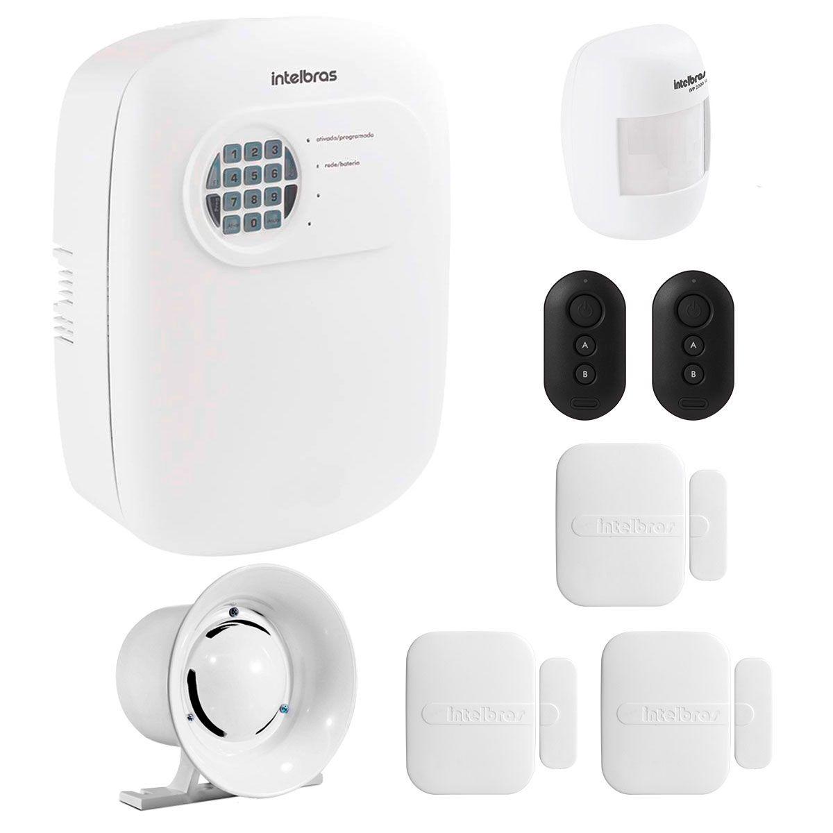 Kit de Alarme Intelbras ANM 3004 ST com 04 Sensores e Discadora por Telefone fixo Sem Fio  - Tudo Forte