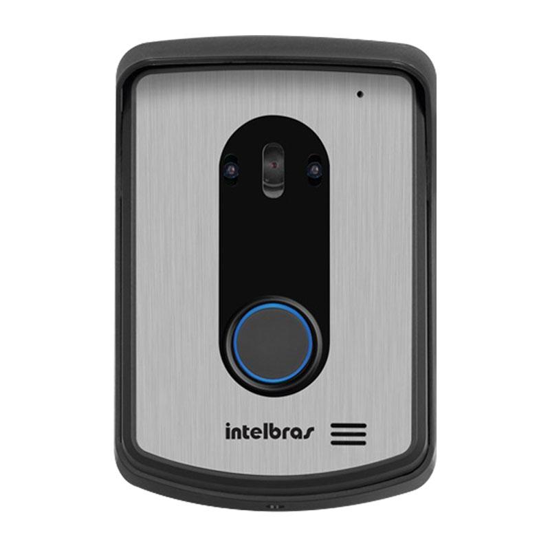 Kit Intefonia Vídeo Porteiro Colorido IV 4010 HS Intelbras c/ 2 Módulos Internos